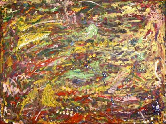 Amanda White Rainbow Dreaming 2015 acrylic on canvas Susie Waller